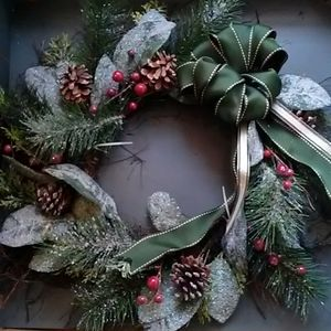 Gorgeous Rich Christmas Wreath.